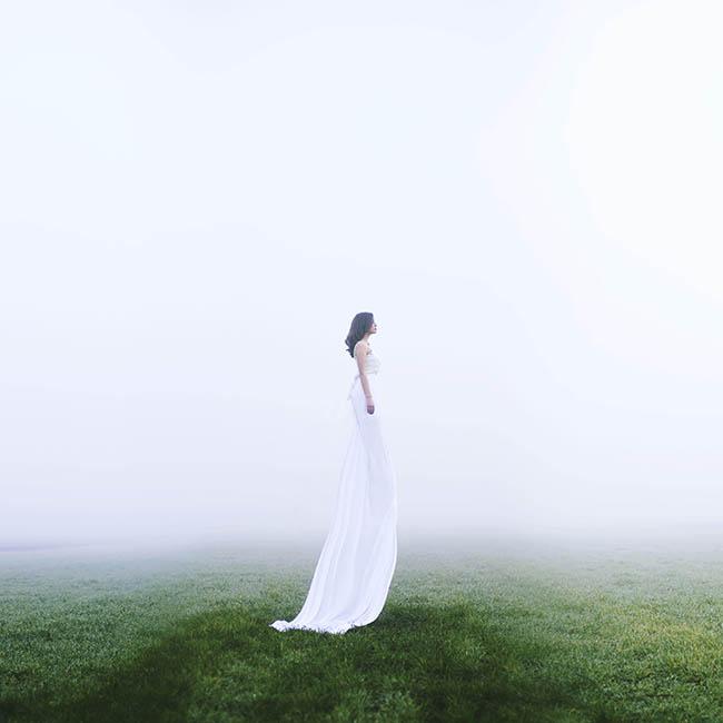 Jovana Rikalo long white dress