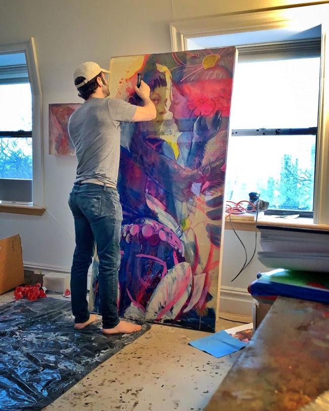 Marc Scheff studio WIP