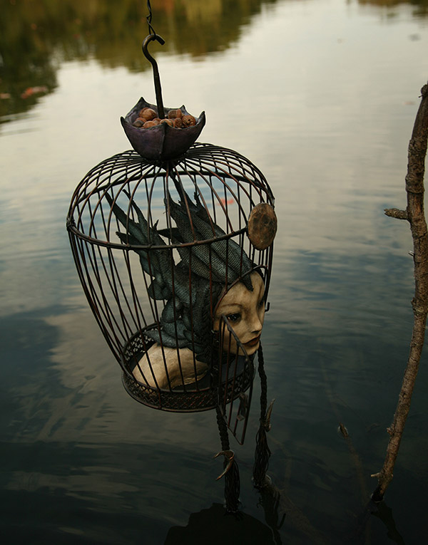 scott radke sculpture for the ritual art exhibition pop surrealism