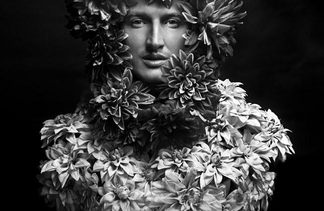 Stas Pylypets black white flowers portrait Stocksy United Photographer