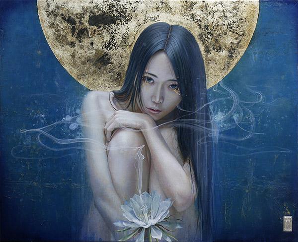 yousuke kawashima painting for the ritual art exhibition pop surrealism