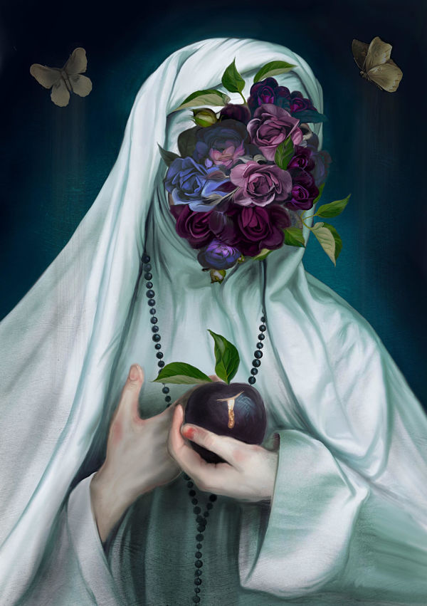 Juliana Loomer dark surrealism digital painting