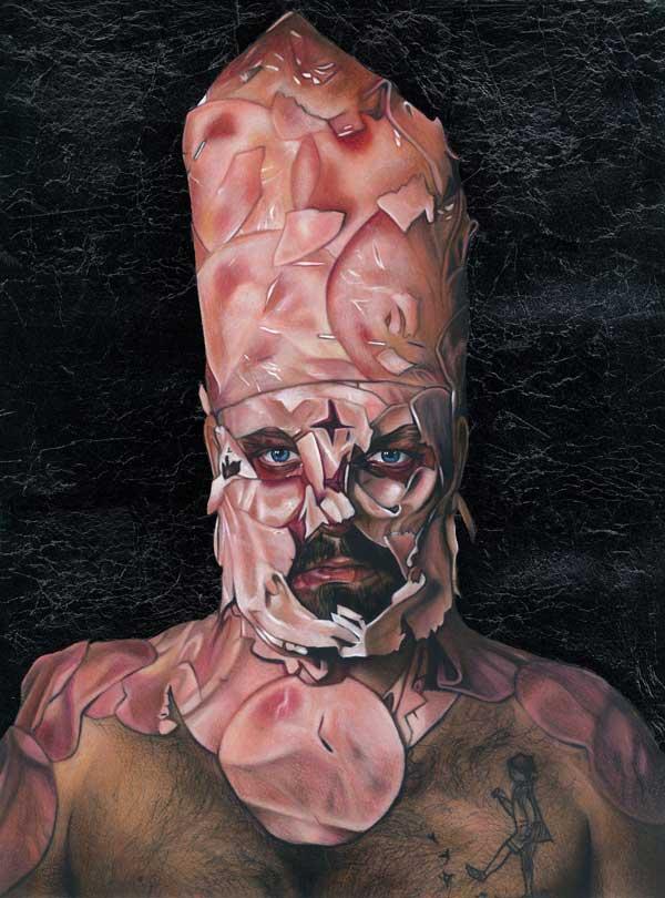 Tom Christophersen Hammraiser realistic portrait painting