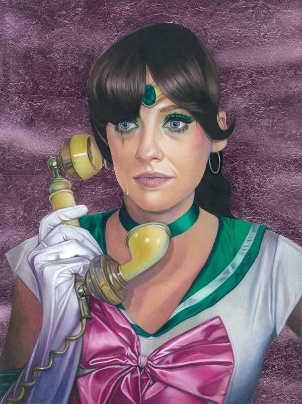 Tom Christophersen Sailor Hey Jupiter realistic portrait painting