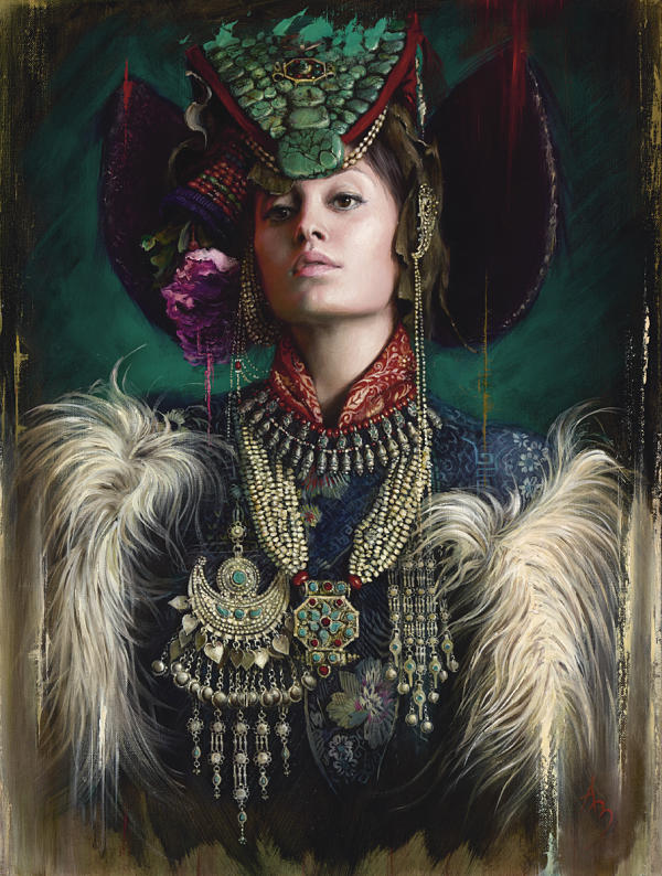 Alexandra Manukyan surreal queen goddess portrait painting
