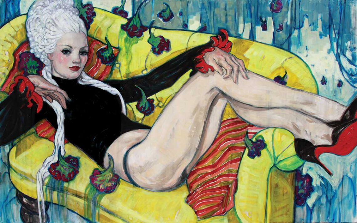 Painting by figurative artist Rebecca Leveille