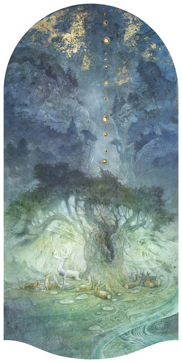 Stephanie Law conjure deer painting