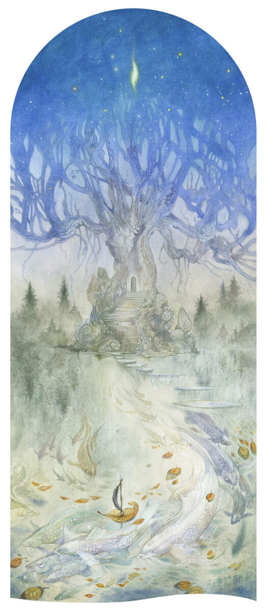Stephanie Law treehouse painting