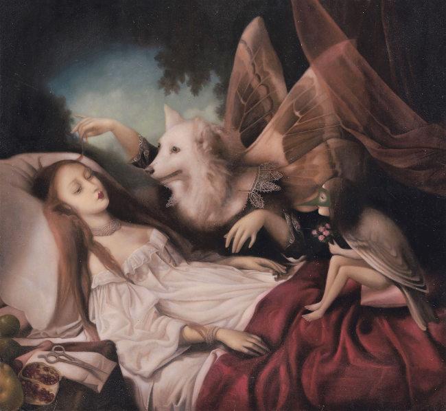 Stephen Mackey wolf angel and lady