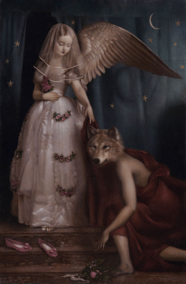 Stephen Mackey angel and wolf Arcadia Contemporary The Pantomimers