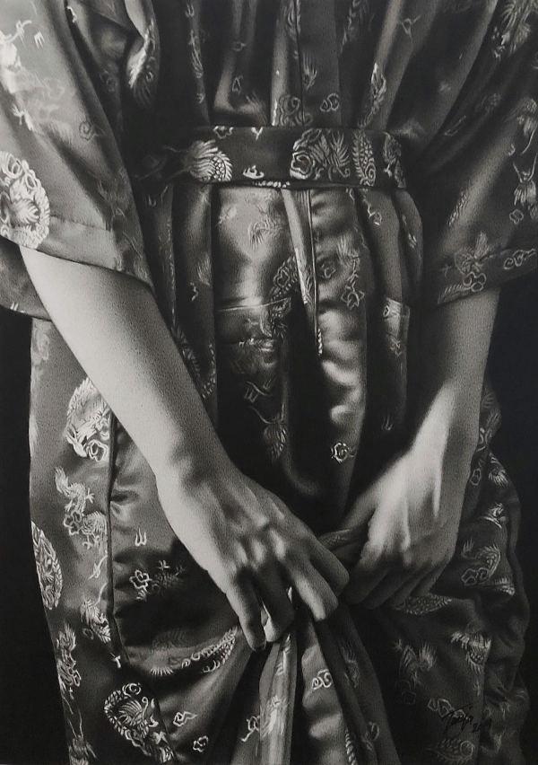 Tanja Gant Kimono woman's hands realism painting