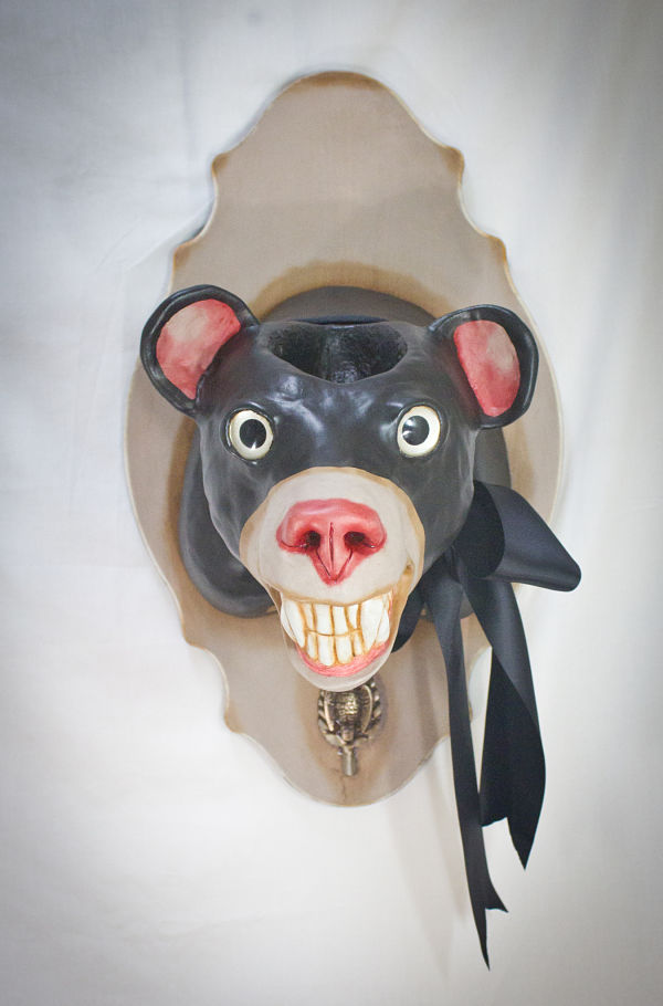 "Valency Genis ""Mental Menagerie"" surreal animal hybrid sculpture"