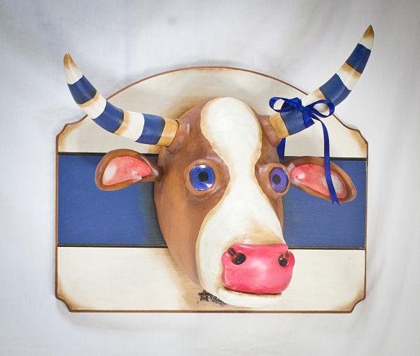 Valency Genis surreal cow animal hybrid sculpture