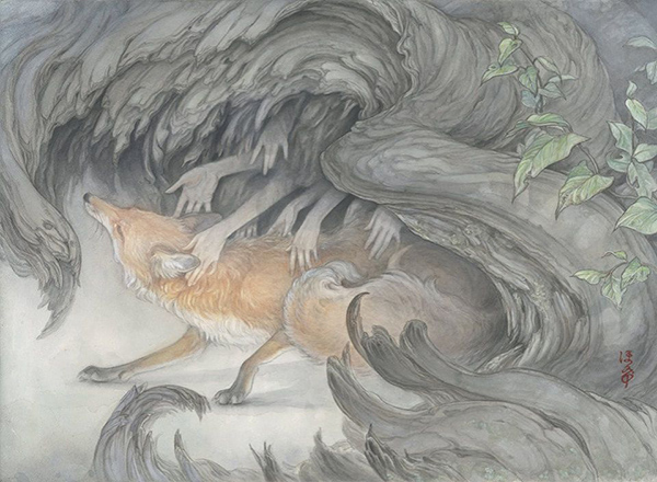Hope Does surreal fox painting