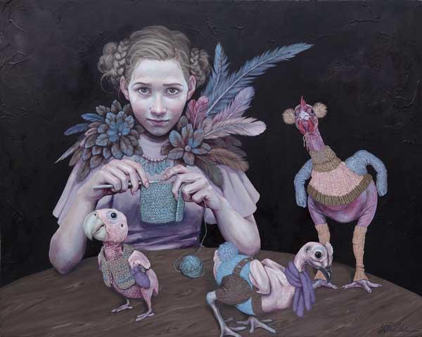 Lisa Lach-Nielsen surrealistic painting