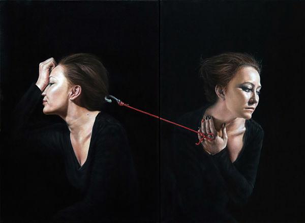 Arina Gordienko emotional portraiture diptych