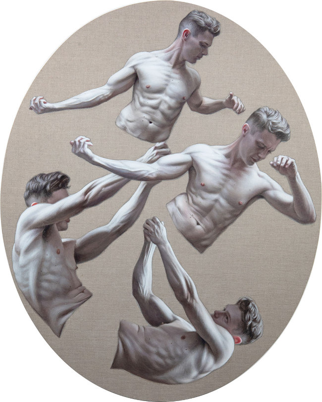Ben Ashton - Grasp figurative nude art painting