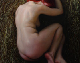 nude painting by artist brianna lee