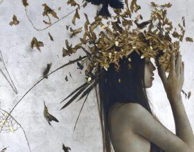 figurative painting by artist brad kunkle on the cover of beautiful bizarre magazine