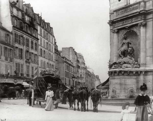 Old photography of Paris