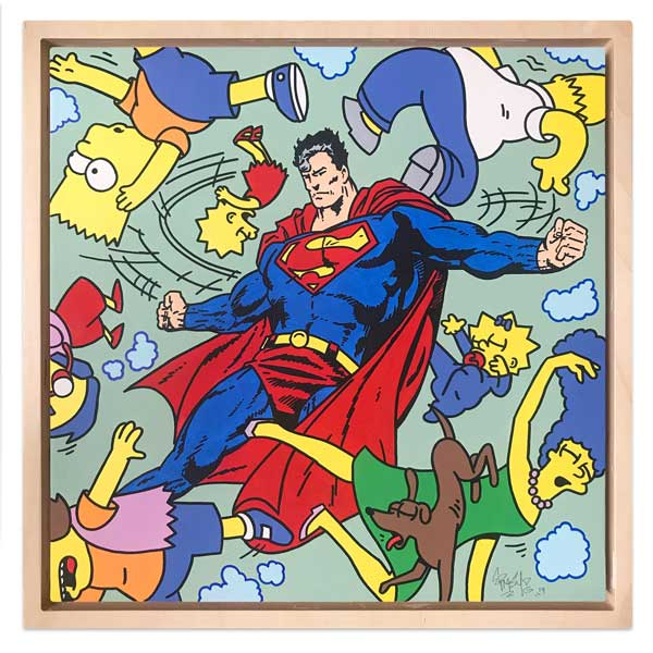 Ermsy superman Bart Simpson painting