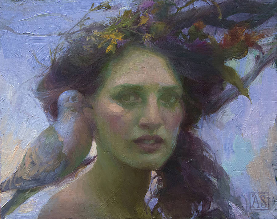 Adrienne Stein surreal bird woman painting
