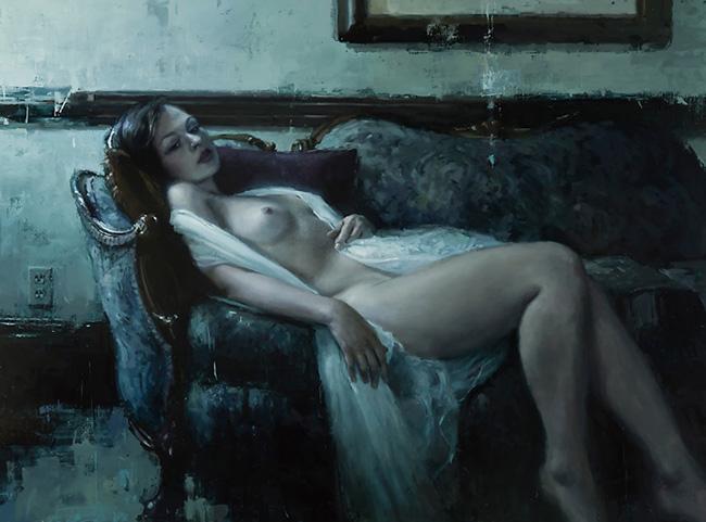 Jeremy Mann nude figurative painting