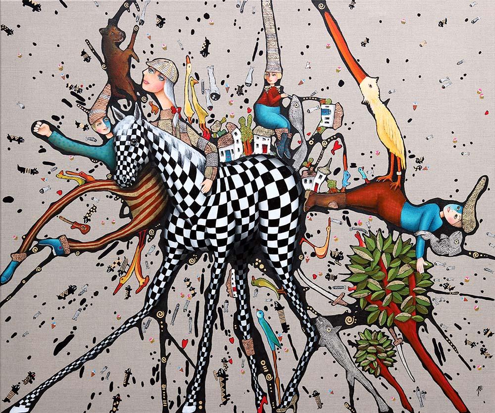 Jette Reinert surreal painting