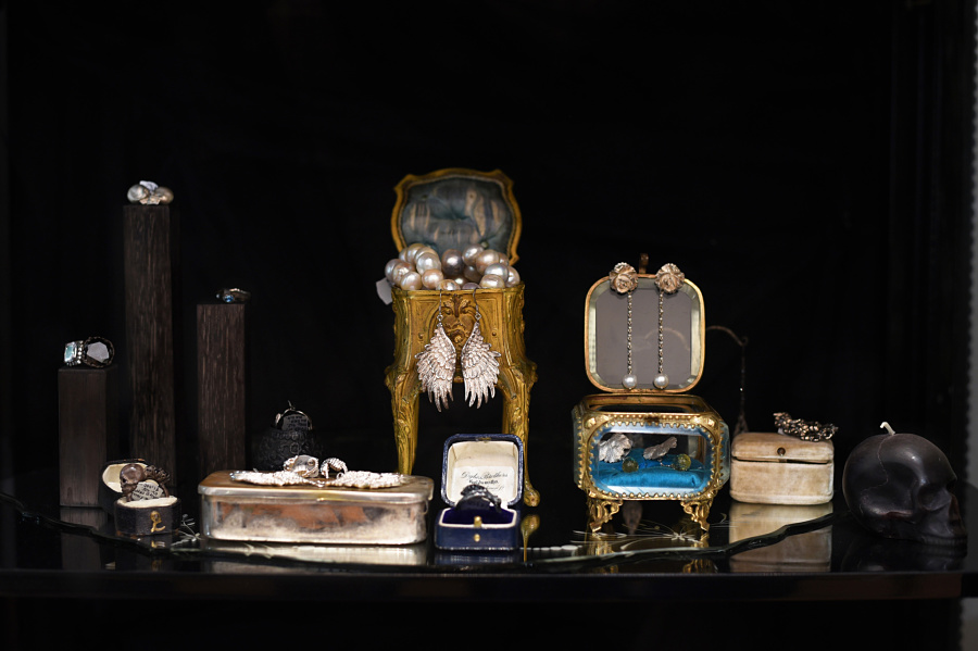 Julia deVille jewelry display