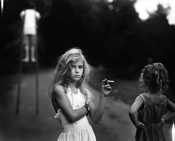 Sally Mann portrait photography girl smoking