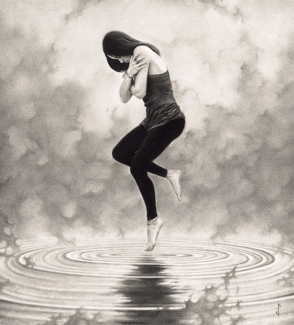 Stuart Holland_lading hovering over water