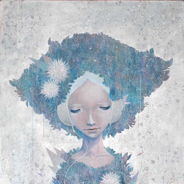 Yoskay Yamamoto blue surreal painting