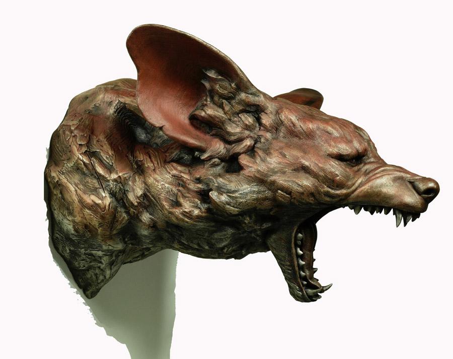 Adam Matano sculpture Wild Dog