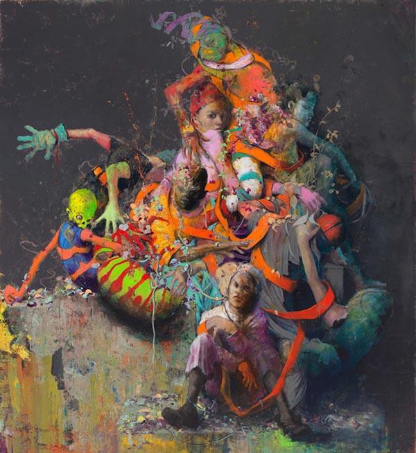 Jonas Burgert surreal painting