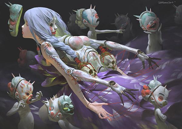 zeen chin surreal digital character art