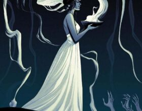 Becky Cloonan - The-Summoner - magic magician priestess painting