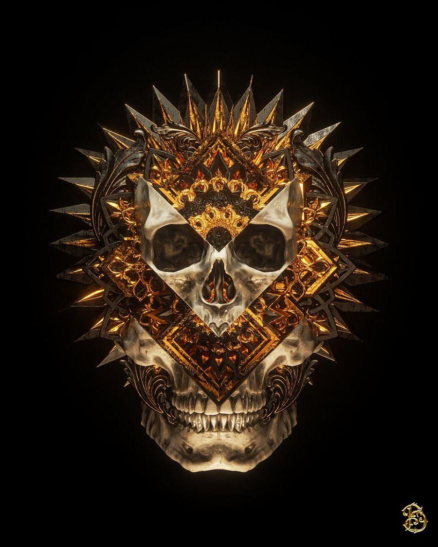 Billelis skull digital art