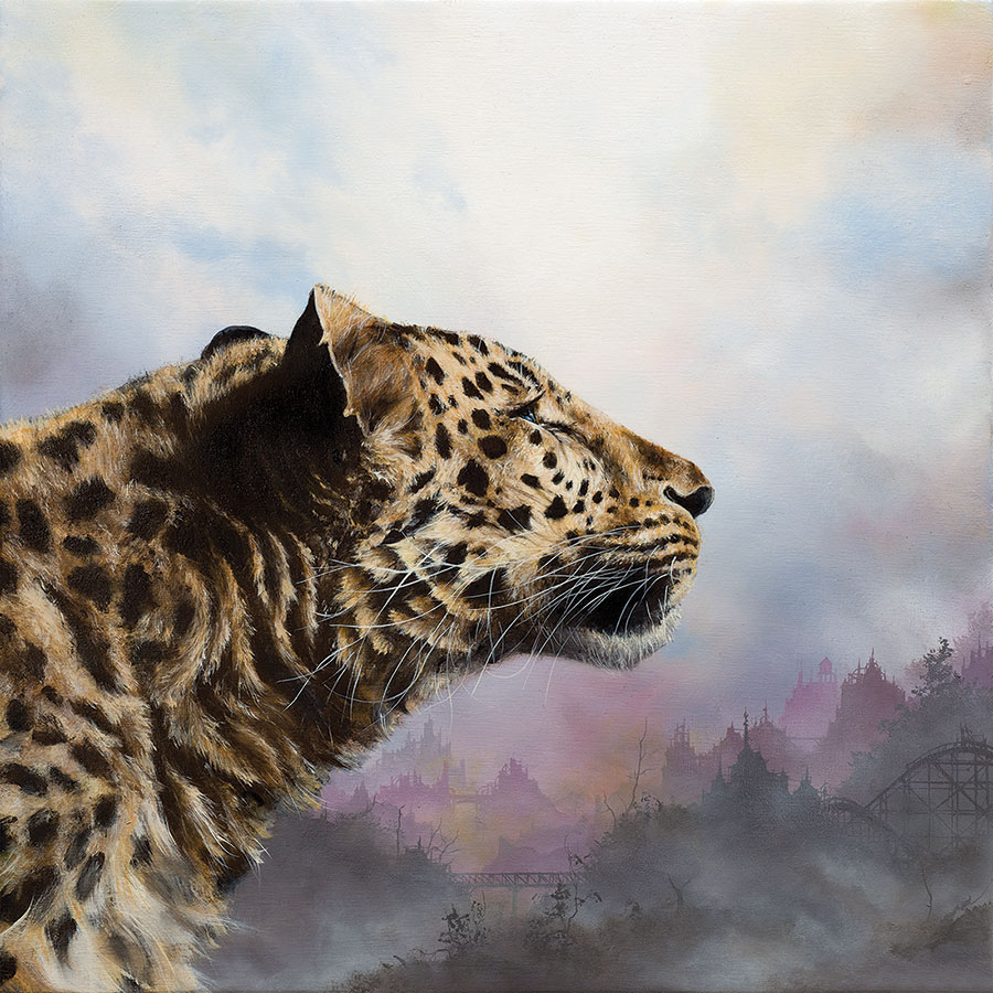 Brian Mashburn's painting of a tiger
