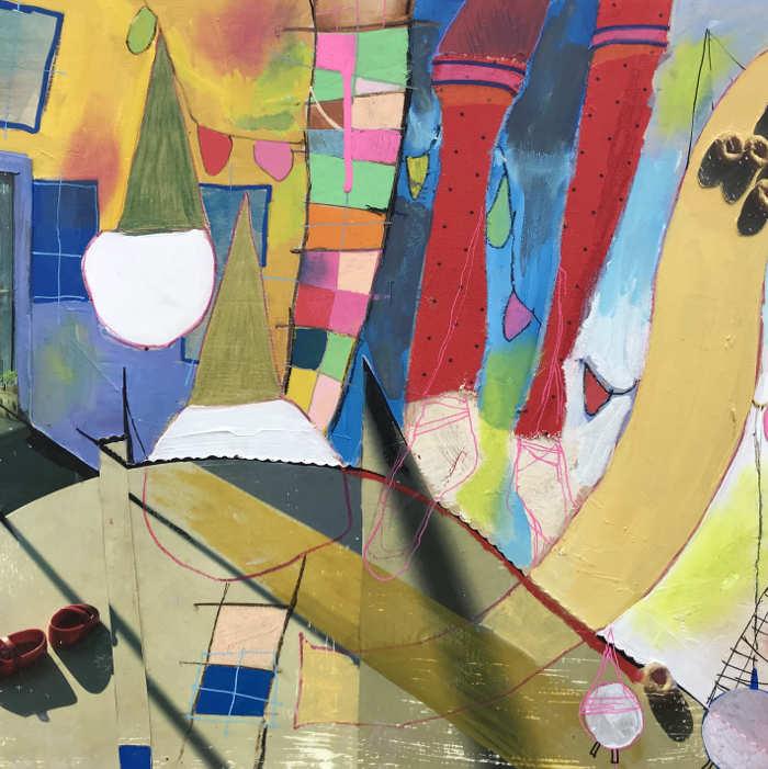 Christine Bush Roman abstract painting