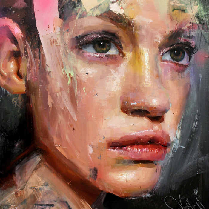 Danielle Coenen XX absract portraits at Curation250 Gallery