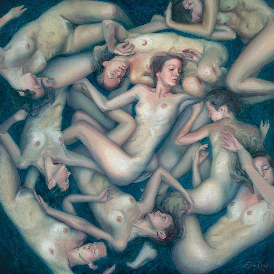 "Ellen Marie Moysons - ""Echo II"" surreal nude painting"