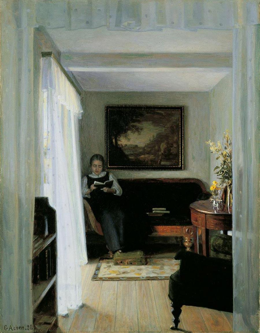 Georg Achen Danish painting Hygge