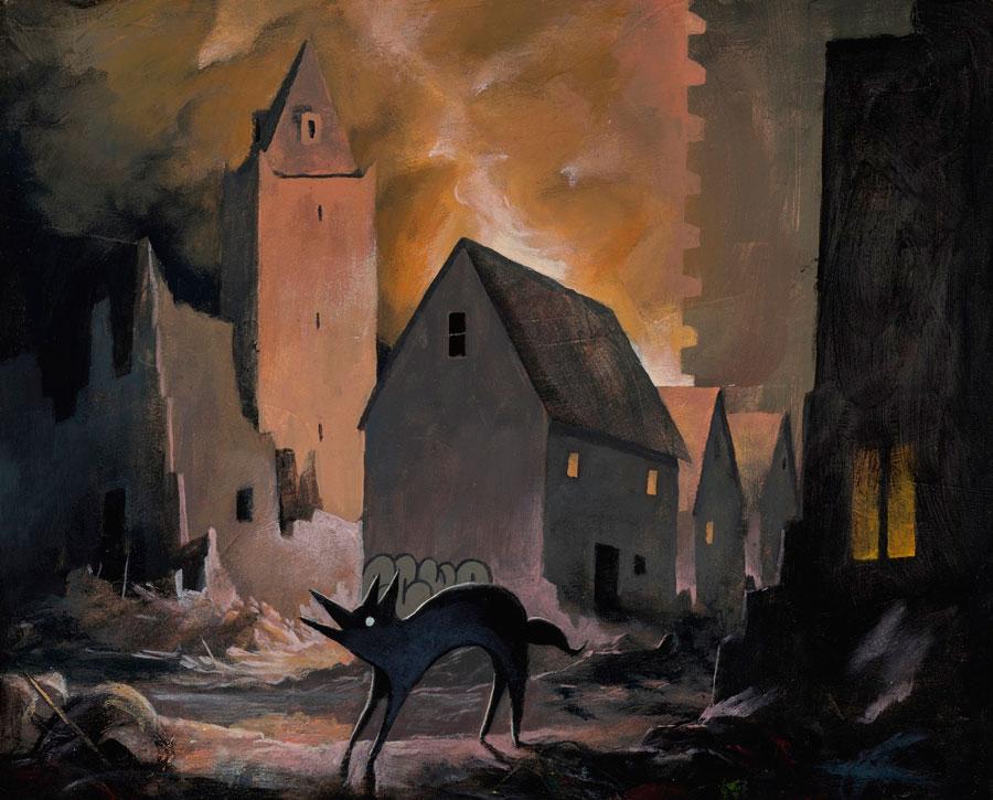 Giorgiko - Fire Light surreal painting