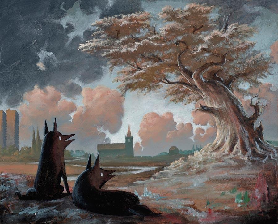 Giorgiko - Rustling Leaves surreal painting