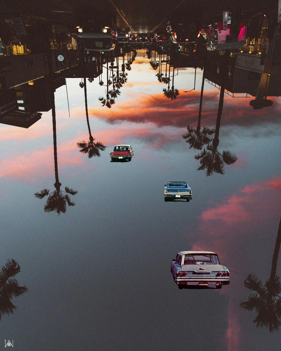 Irie Wata Rodeo Drive photomanipulation collage