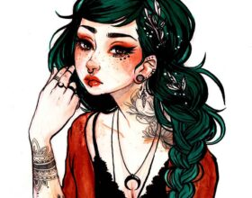 Jacquelin-de-Leon-illustration - tattooed woman