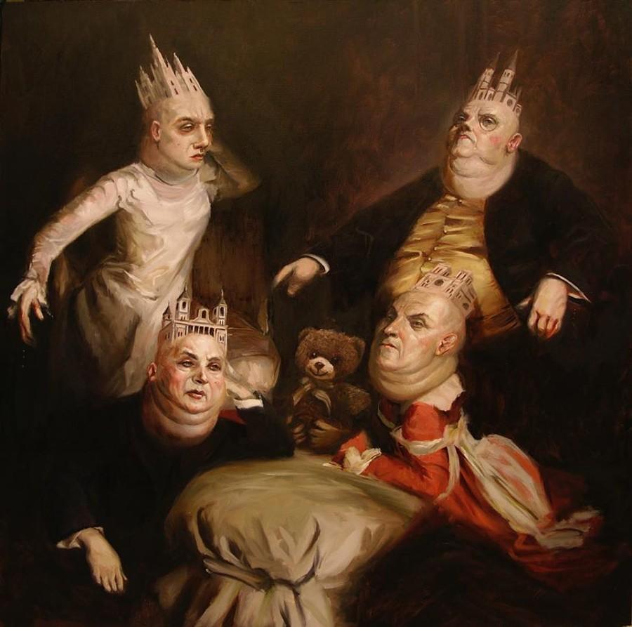 James Dean surreal dark art painting