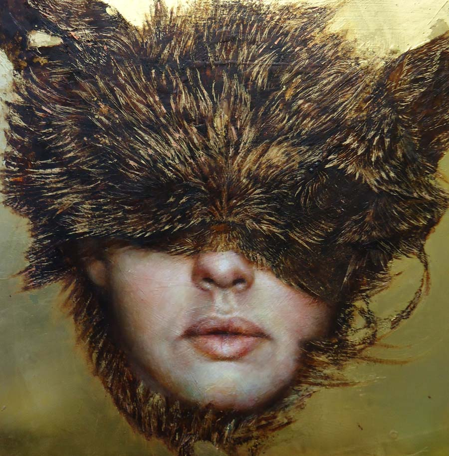 "Pam Hawkes - ""The Flux of Becoming"" pop surreal portrait"