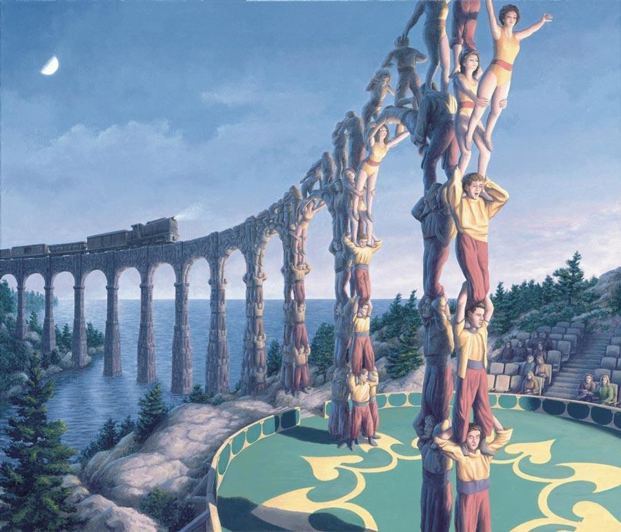Rob Gonsalves surreal narrative painting