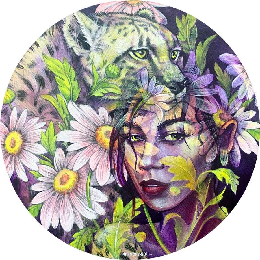 Amandalynn surreal portrait painting Modern Eden Gallery